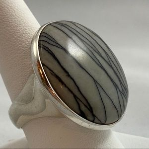 Jewelry - Fabulous Reticulated Agate & Sterling Ring
